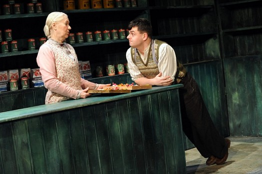 Dearbhla Molloy and Laurence Kinlan in The Cripple of Inishmaan by Martin McDonagh, directed by Garry Hynes. Photo by Robert Day.